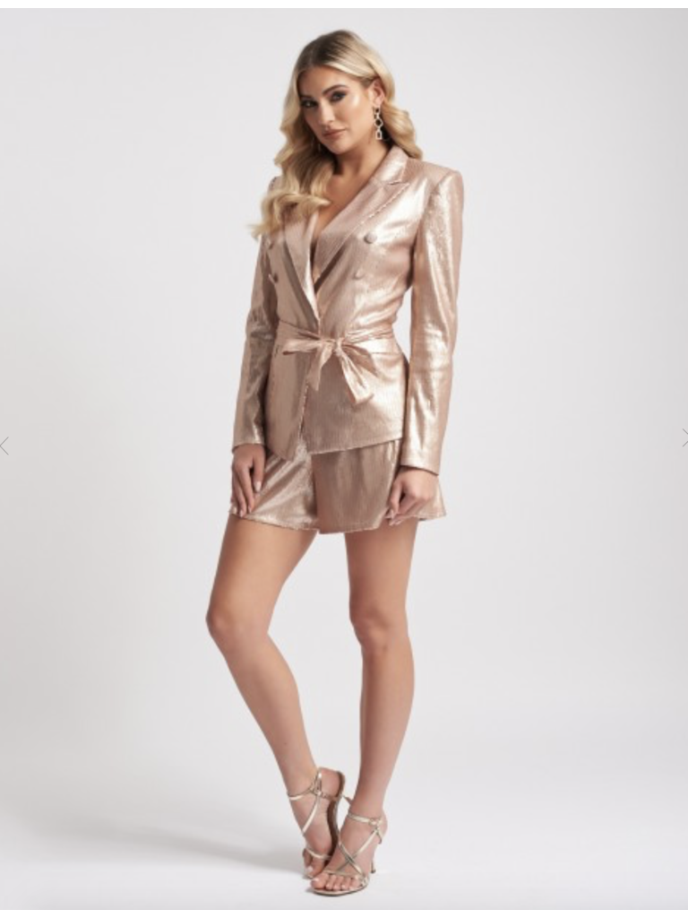 Forever Unique Forever Unique Slick sequin short nude