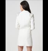 Forever Unique Forever Unique Olivia Zweireiher Blazer Kleid mit Schulterdetails weiß