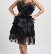 Forever Unique Forever Unique Halle black dress with ruffle details