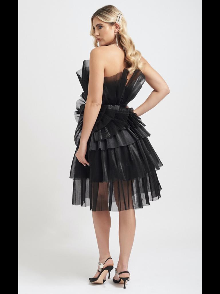 Forever Unique Forever Unique Halle black dress with ruffle details