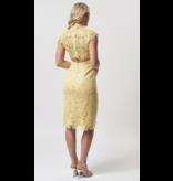 Forever Unique Forever Unique Rivet gehaakt sequin jurk geel
