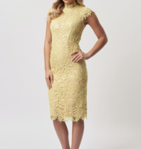 Forever Unique Forever Unique Rivet crochet sequin dress yellow