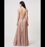 Forever Unique Forever Unique Glade maxi jurk met gekruiste details nude