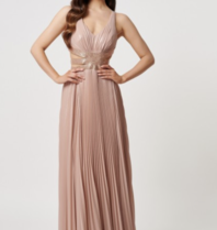 Forever Unique Forever Unique Glade maxi dress with crossed nude details