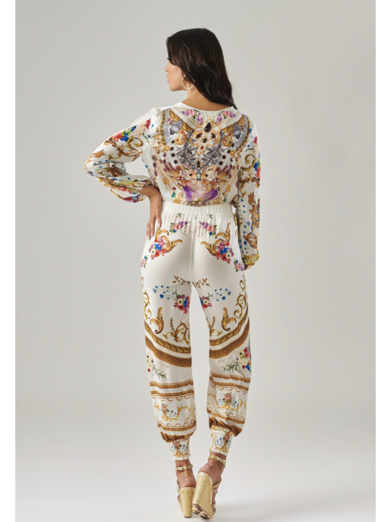 Forever Unique Forever Unique Island blouse with print white
