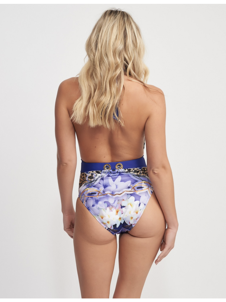 Forever Unique Forever Unique Hula swimsuit with print purple