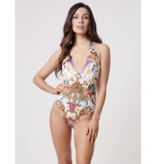 Forever Unique Forever Unique Bahama swimsuit with print white