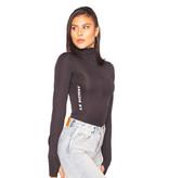 La Sisters LA Sisters Scuba zipper bodysuit zwart