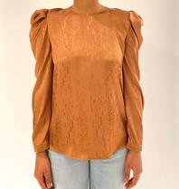 Silvian Heach Silvian Heach Tamba blouse met pofmouwen en print brons