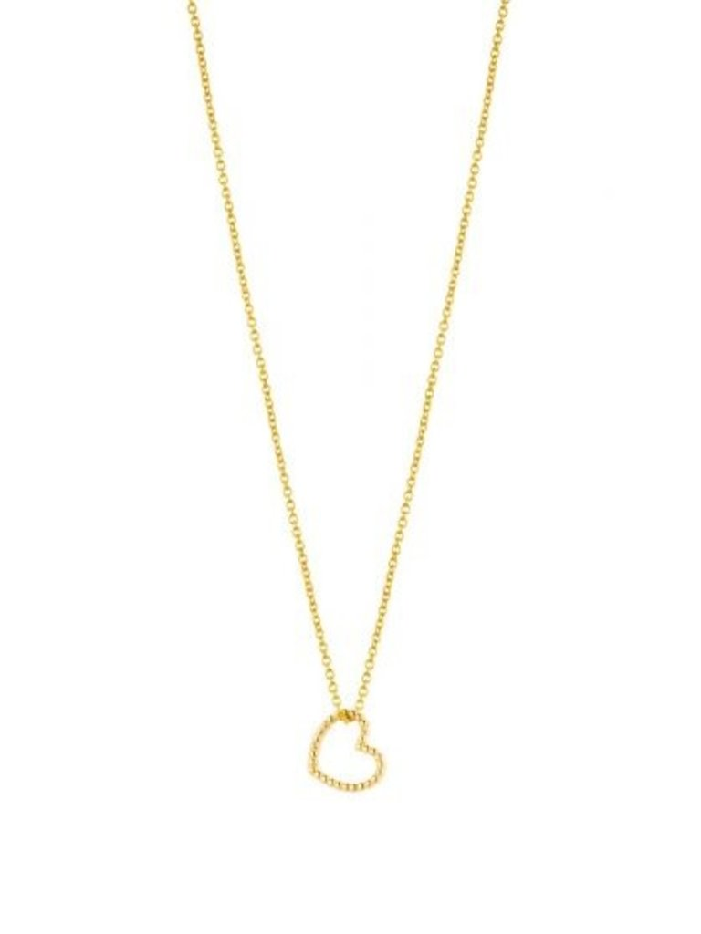 Just Franky Just Franky Vintage necklace heart 42-44cm gold