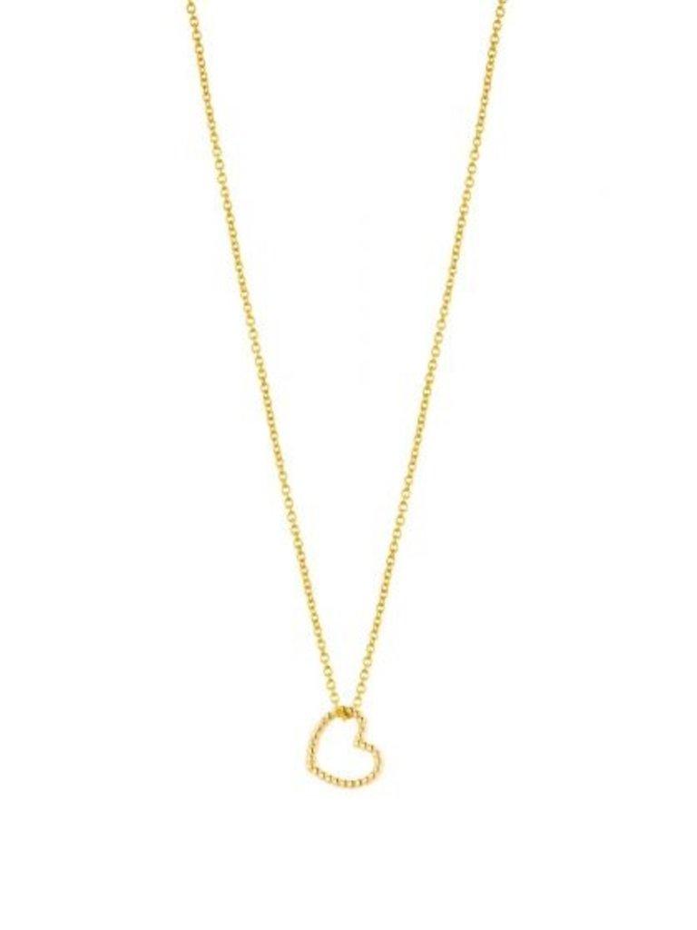 Just Franky Nur Franky Vintage Halskette Herz 42-44cm Gold