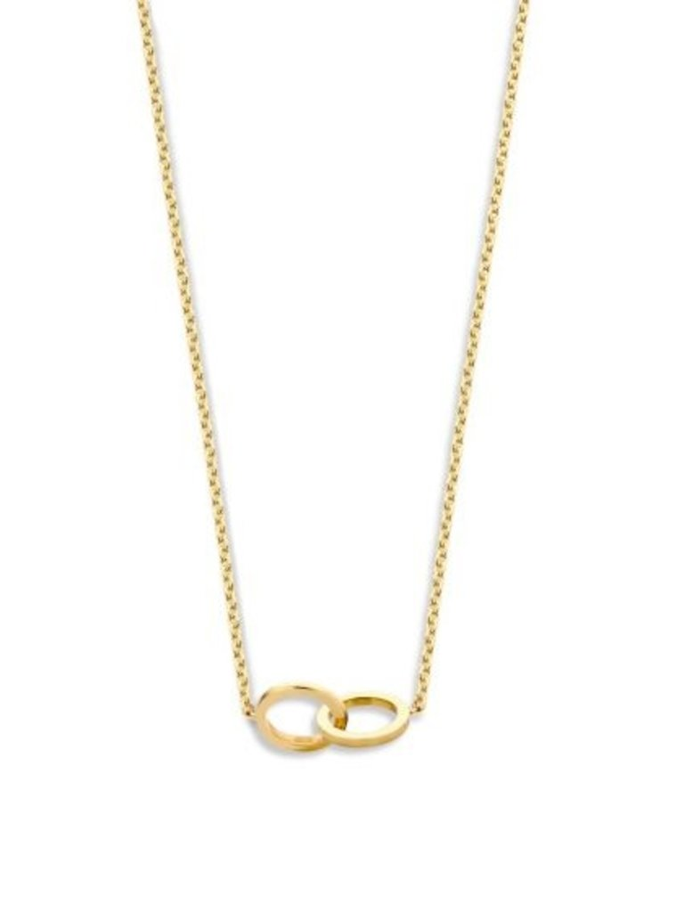 Just Franky Just Franky Iconic Double Open Circle Necklace 39-41 gold