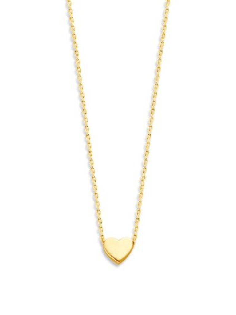 Just Franky Just Franky Capital Necklace Heart 39-41 gold