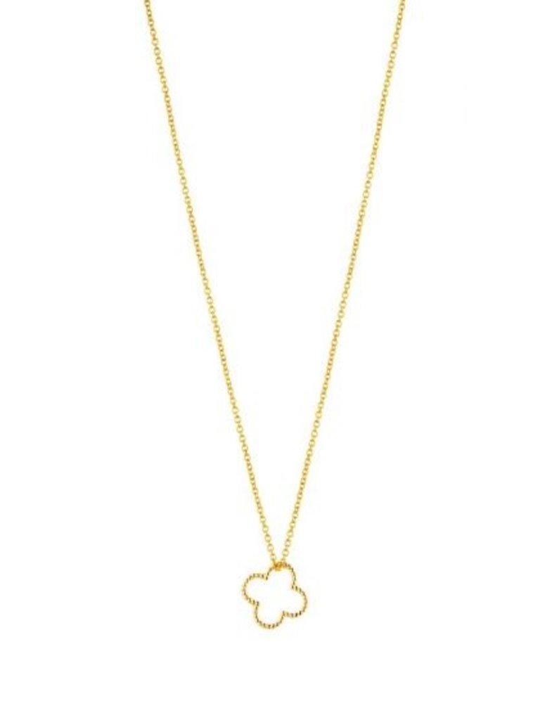 Just Franky Just Franky Vintage necklace clover 39-41cm goud