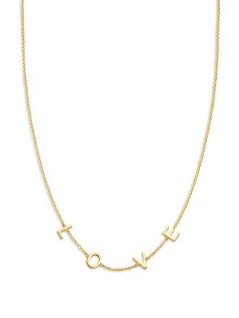 Just Franky Just Franky Love Letter Necklace 4 Initials 39-41cm goud
