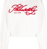 Philosophy Di Lorenzo Serafini Philosophy Di Lorenzo Serafini Sweater with embroidered logo white