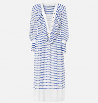 Philosophy Di Lorenzo Serafini Philosophy Di Lorenzo Serafini midi dress with stripe print blue white