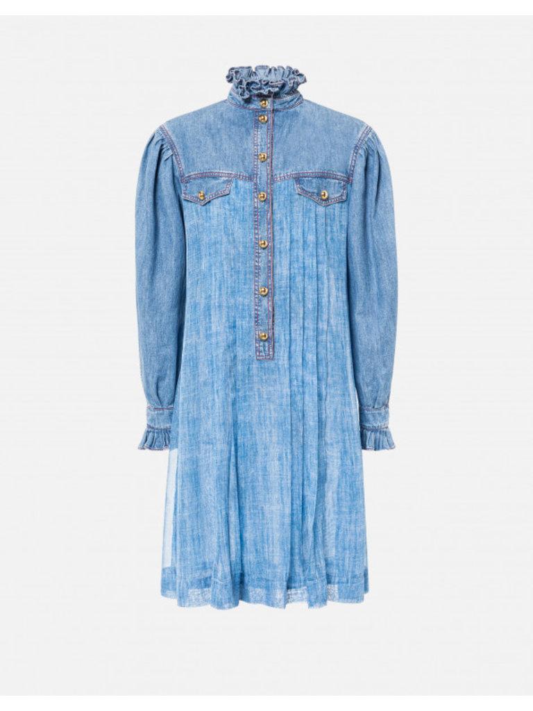 Philosophy Di Lorenzo Serafini Philosophy Di Lorenzo Serafini denim dress with details blue