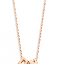 Just Franky Just Franky Capital Necklace 2 Capitals 39-41cm rosé goud