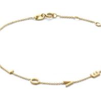 Just Franky Just Franky Love Letter Bracelet 4 Initials 16-18cm gold