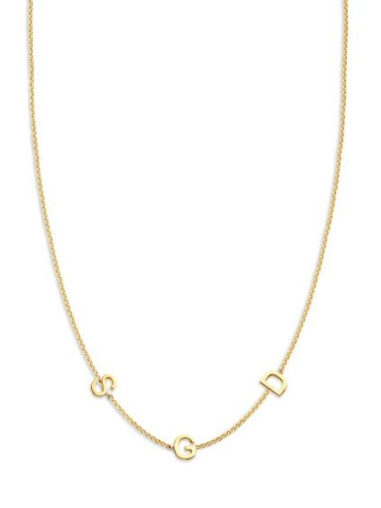 Just Franky Just Franky Love Letter Necklace 3 Initials 39-41cm goud