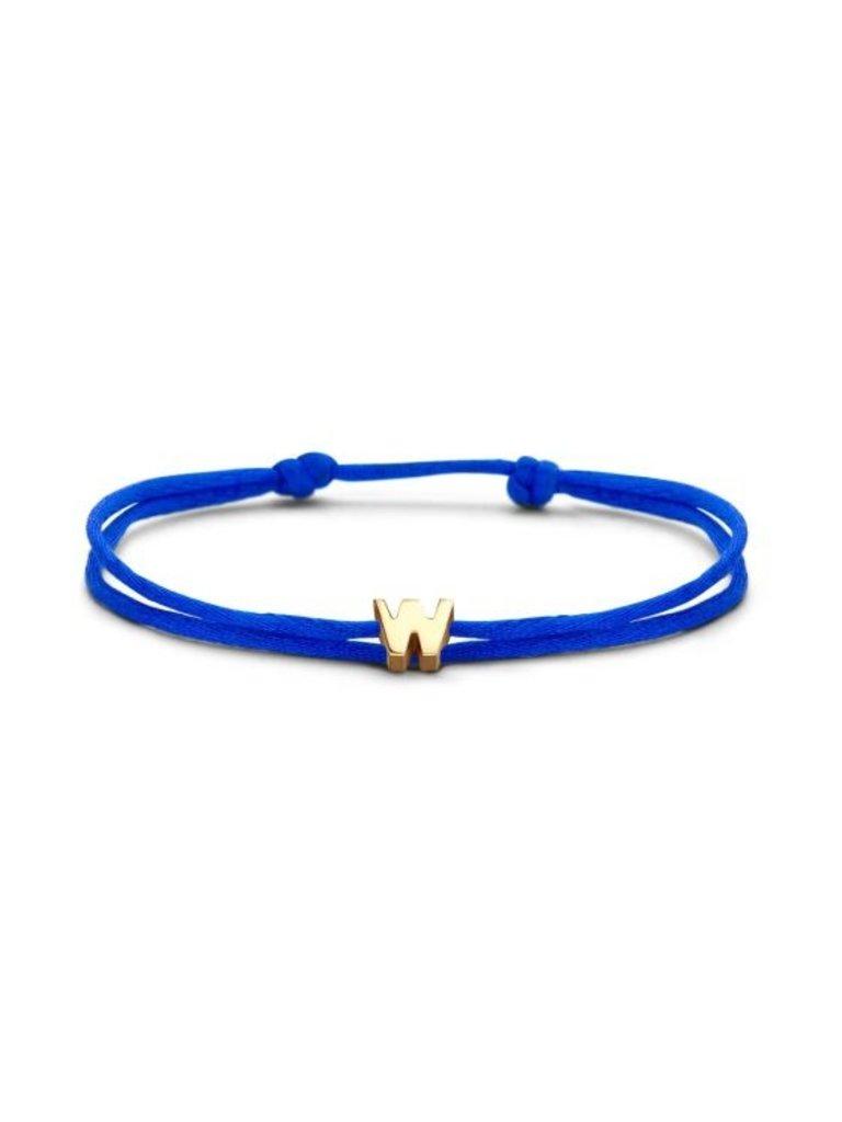 Just Franky Just Franky Capital Bracelet Cord 1 Capital gold