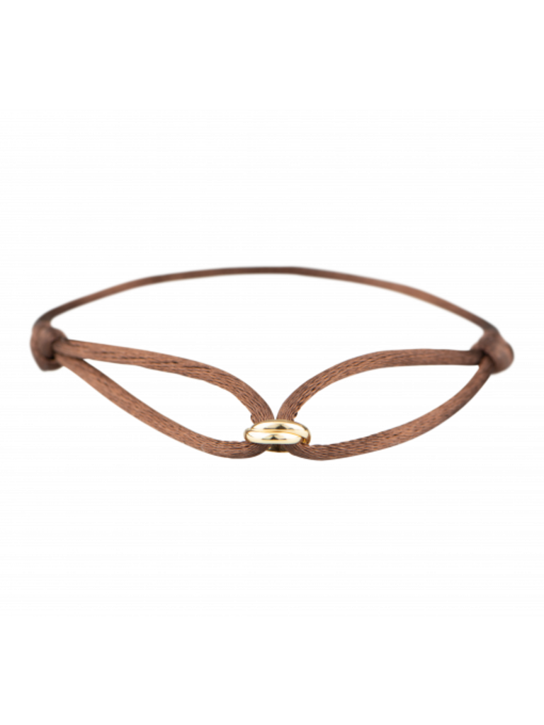 Goldbandits GoldBandits koord armband What comes around goud