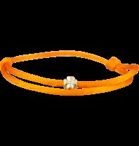 Goldbandits GoldBandits koord armband clover goud