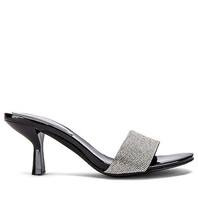 Jeffrey Campbell Jeffrey Campbell Glitzed Heeled sandal with strass black