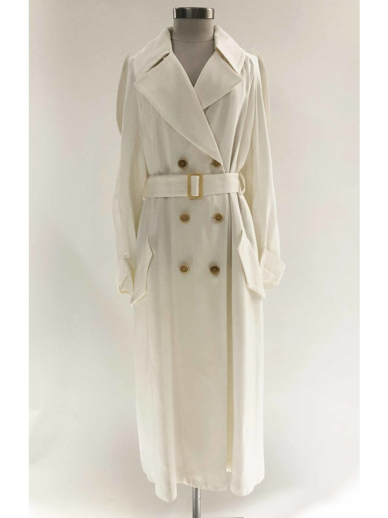 Erika Cavallini Erika Cavallini double-breasted trench coat white