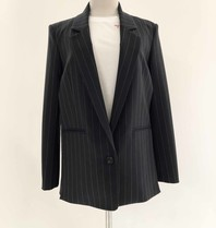 Erika Cavallini Erika Cavallini blazer with stripes print and split blue