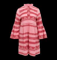 Devotion Devotion Zakar Elena jurk met print rood roze
