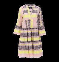 Devotion Devotion midi Ella dress with print pink lime