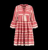 Devotion Devotion midi Ella dress with print red white