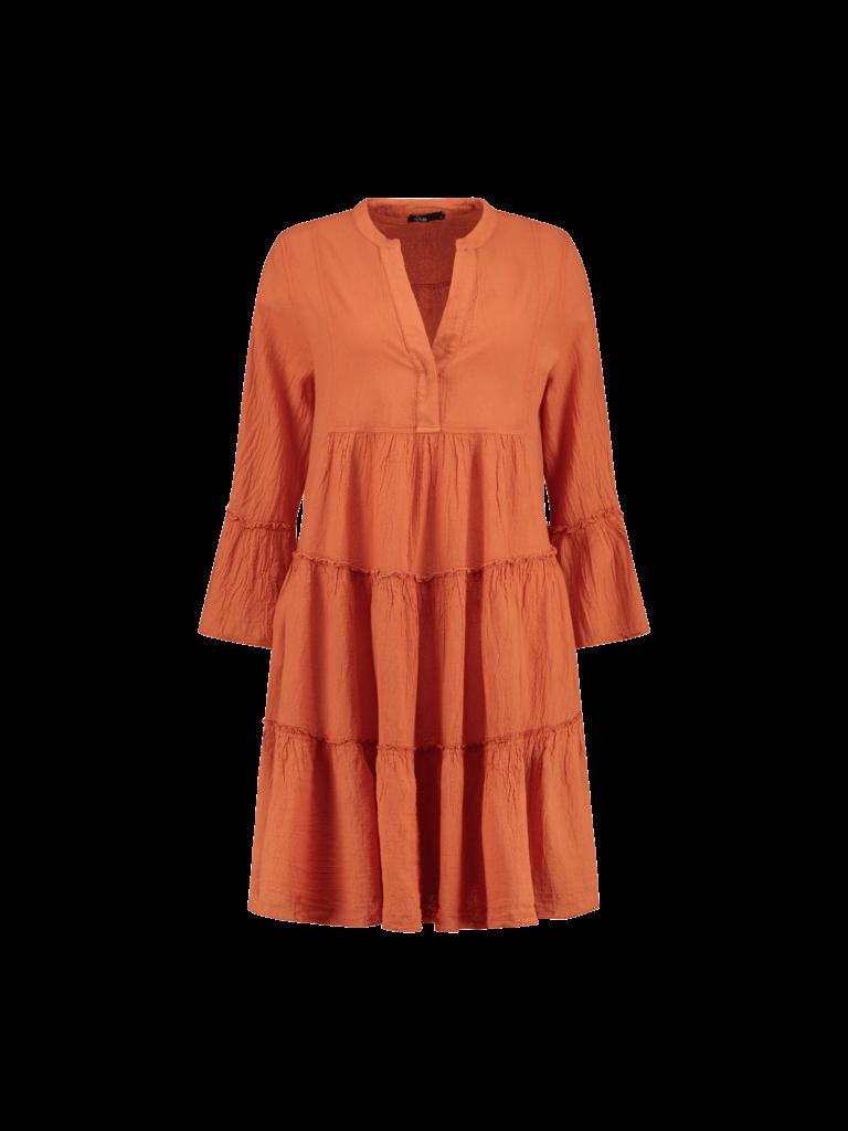Devotion Devotion midi Ella dress orange