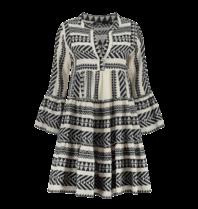 Devotion Hingabe Ella Kleid mit Druck Marineblau Weiß