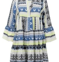 Devotion Devotion Ella dress with print white blue