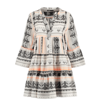Devotion Devotion Ella dress with print white orange