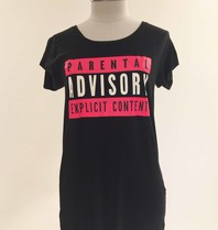 VLVT VLVT Parental Advisory T-Shirt rosa schwarz