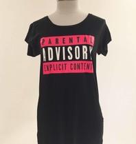 VLVT VLVT Parental Advisory tee pink black