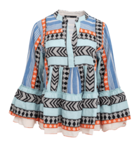 Devotion Devotion zakar electra blouse with print blue