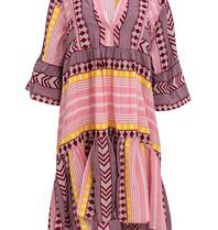 Devotion Devotion Zakar jurk met print roze geel