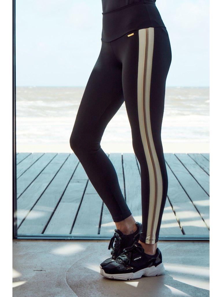 deblon sports Deblon Sports Jade sportlegging zwart off-white zand
