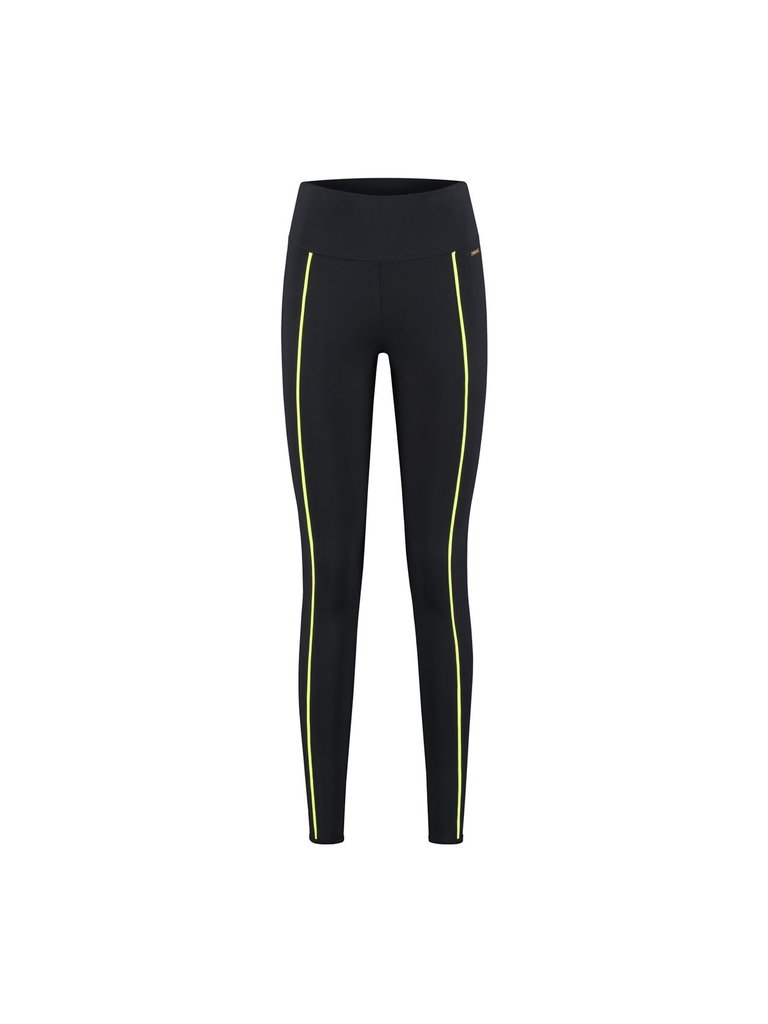deblon sports Deblon Sports Kate sports leggings with neon stitching black