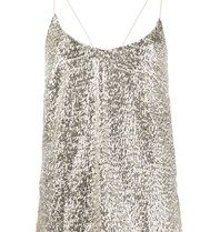 Semicouture Semicouture sequin slip top zilver