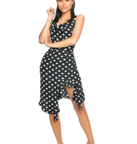 La Sisters LA Sisters polkadot draped dress black