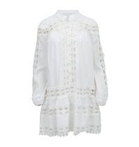 Devotion Devotion Christina kanten jurk wit