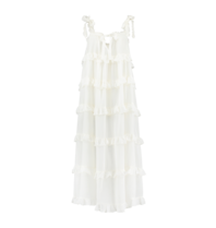 Devotion Devotion Gesthimani maxi dress white