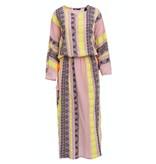 Devotion Devotion maxi Zakar Mariana jurk met print roze geel