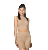 La Sisters LA Sisters Ribbed cycling two piece nude